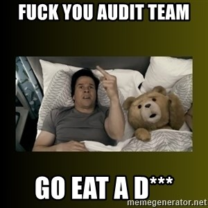ted fuck you thunder - fuck you audit team go eat a d***