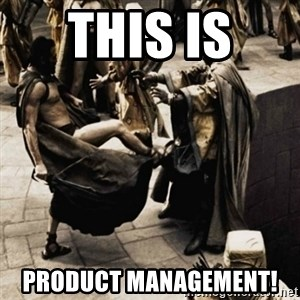 sparta kick - this is  Product management!