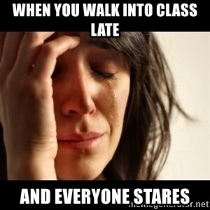 crying girl sad - when you walk into class late and everyone stares
