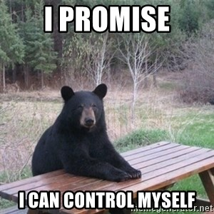 Patient Bear - i promise i can control myself