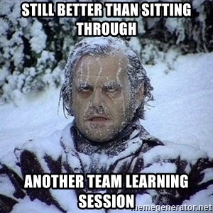 Frozen Jack - still better than sitting through another team learning session