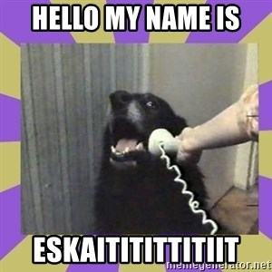 Yes, this is dog! - hello my name is  ESKAITITITTITIIT