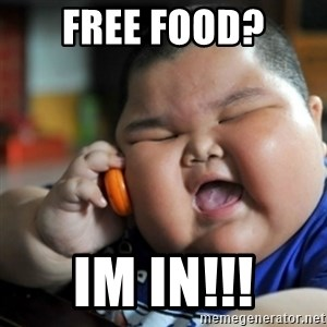 fat chinese kid - Free food? Im In!!!