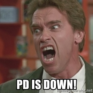 Arnold - PD is down!