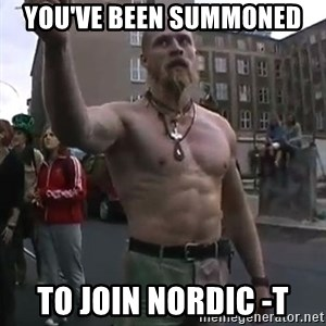 Techno Viking - YOU'VE BEEN SUMMONED TO JOIN NORDIC -T
