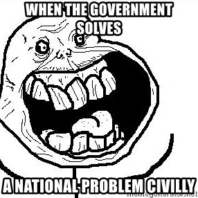 Happy Forever Alone - when the government solves a national problem civilly