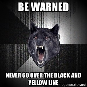 flniuydl - Be warned Never go over the black and Yellow Line