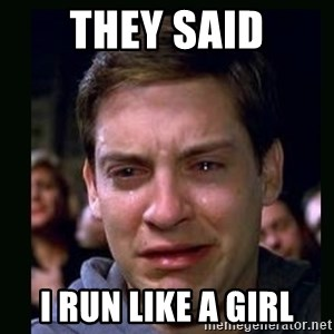 crying peter parker - They said i run like a girl