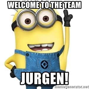 Despicable Me Minion - Welcome to the team Jurgen!