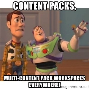 Toy story - Content packs, Multi-content pack workspaces everywhere!