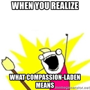 x all the y - when you realize what compassion-laden means