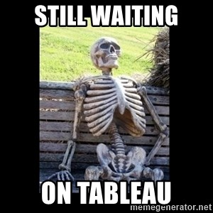 Still Waiting - Still waiting on tableau