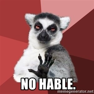 Chill Out Lemur - No hable.