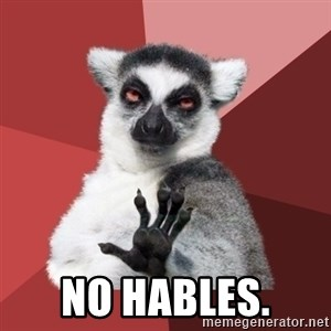 Chill Out Lemur - No hables.