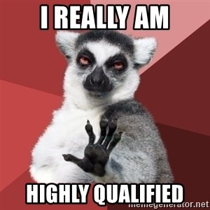 Chill Out Lemur - I really am highly qualified