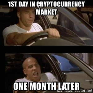 Vin Diesel Car - 1st day in cryptocurrency market one month later