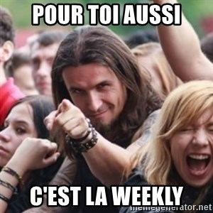 Ridiculously Photogenic Metalhead - pour toi aussi C'est la Weekly