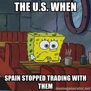 Coffee shop spongebob - the u.s. when spain stopped trading with them