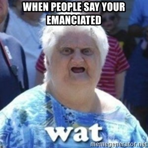 Fat Woman Wat - when people say your emanciated