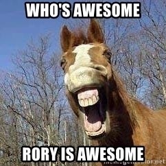 Horse - Who's Awesome Rory is Awesome