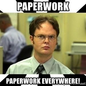 Dwight from the Office - Paperwork Paperwork everywhere!