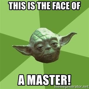 Advice Yoda Gives - tHIS IS THE FACE OF A MASTER!