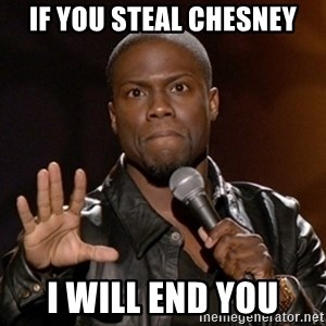 Kevin Hart - iF YOU steal chesney I will end you