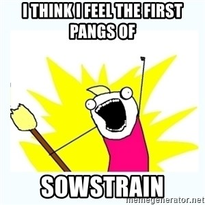 All the things - I think I feel the first pangs of SOWSTRAIN