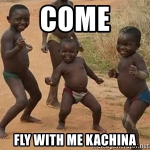 Dancing African Kid - COME fly with me Kachina