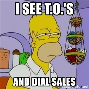 Simpsons' Homer - I see T.O.'s  and dial sales