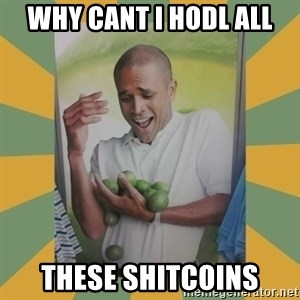 Why can't I hold all these limes - WHY CANT I HODL ALL THESE SHITCOINS