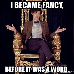 Hipster Doctor Who - i became fancy, before it was a word.