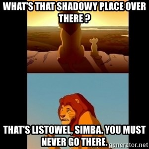 Lion King Shadowy Place - What's that shadowy place over there ? That's Listowel, Simba. You must never go there.