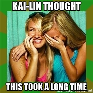 Laughing Girls  - kai-lin thought this took a long time