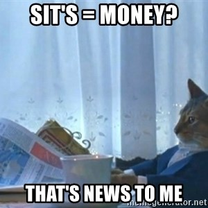 newspaper cat realization - Sit's = Money? That's News to Me