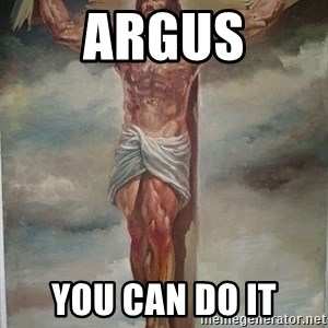 Muscles Jesus - Argus you can do it