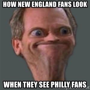 Housella ei suju - How New England fans look When they see Philly fans