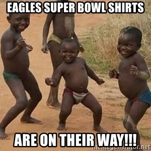 Dancing African Kid - Eagles Super Bowl Shirts Are on their way!!!