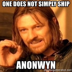 One Does Not Simply - one does not simply ship  anonwyn