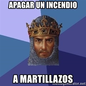 Age Of Empires - Apagar un incendio A martillazos