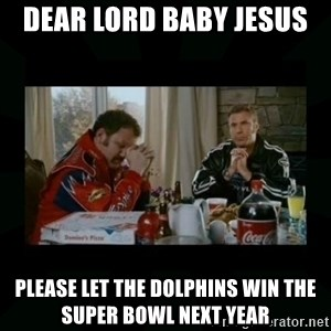 Dear lord baby jesus - Dear Lord Baby Jesus  Please let the Dolphins Win the Super Bowl Next Year