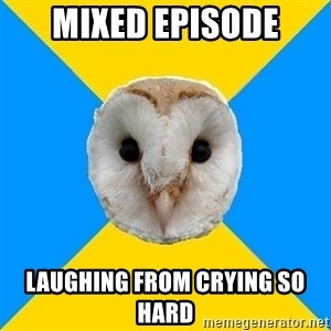 Bipolar Owl - Mixed episode Laughing from crying so hard