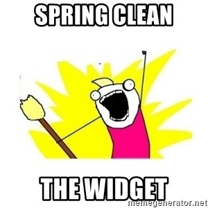 clean all the things blank template - Spring clean The widget