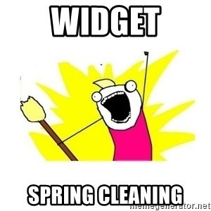 clean all the things blank template - Widget Spring Cleaning