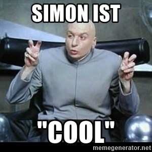 "dr. evil quotation marks - simon ist ""cool"""