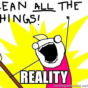 clean all the things - reality