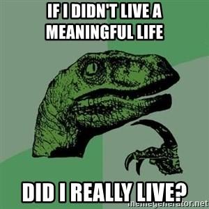 Raptor - if i didn't live a meaningful life did i really live?