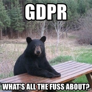 Patient Bear - GDPR What's All The Fuss About?