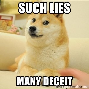 so doge - Such lies Many deceit