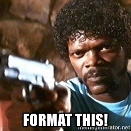 Pulp Fiction - Format this!